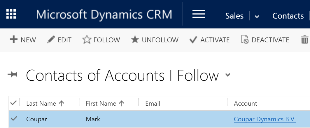 Synchronize Contacts of Accounts you follow | Coupar Dynamics
