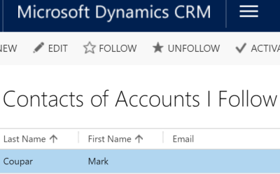 Synchronize Contacts of Accounts you follow